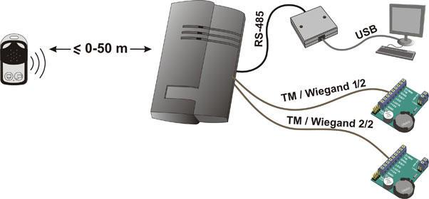 Схема подключения считывателя